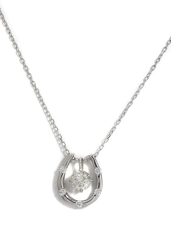 【2Way】セレクトジュエリー『K18WGネックレス ダイヤモンド0.37ct 0.08ct』1週間保証【中古】