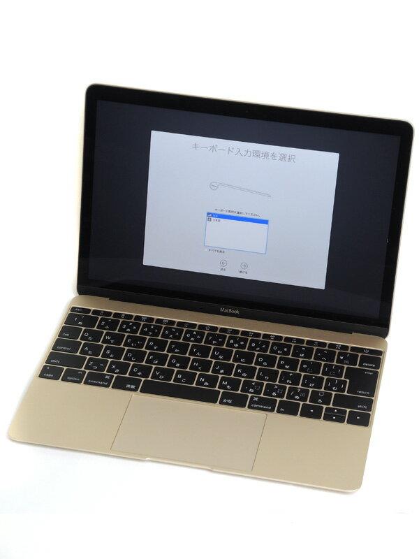 【Apple】アップル『MacBook 1100/12』MK4M2J/A ゴールド Early 2015 256GB ElCapitan ノートPC【中古】