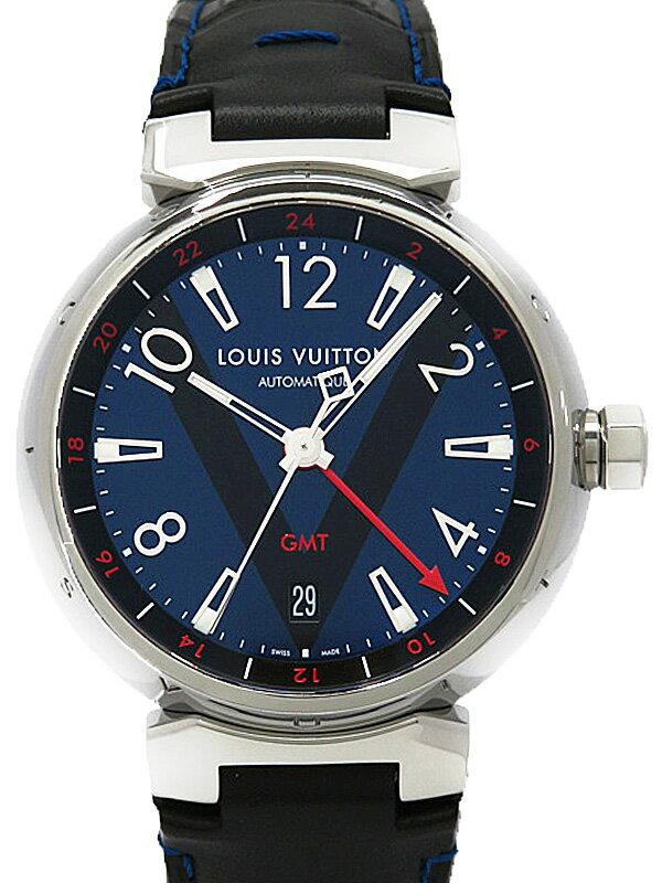 【LOUIS VUITTON】ルイヴィトン『タンブール オートマティック GMT』Q11570 メンズ 自動巻き 3ヶ月保証【中古】