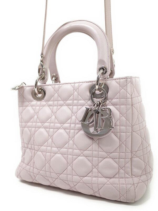 【Christian Dior】クリスチャンディオール『レディディオール (M)』レディース 2WAYバッグ 1週間保証【中古】