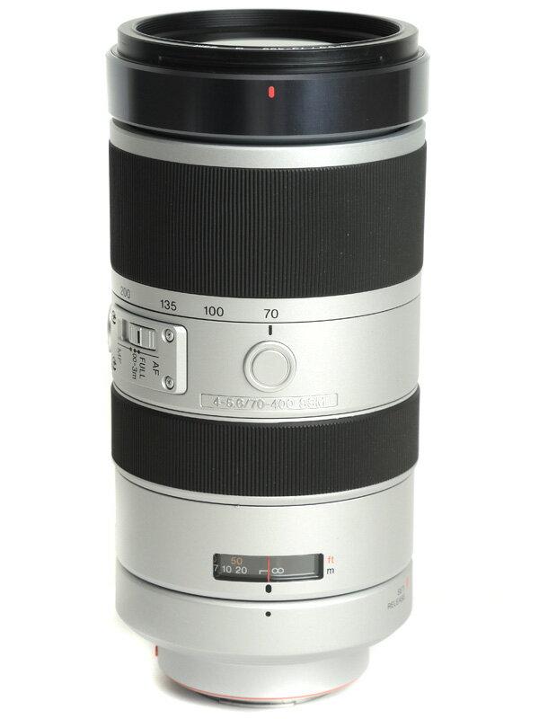 【SONY】ソニー『70-400mm F4-5.6 G SSM』SAL70400G Aマウント フルサイズ デジタル一眼カメラ用レンズ 1週間保証【中古】