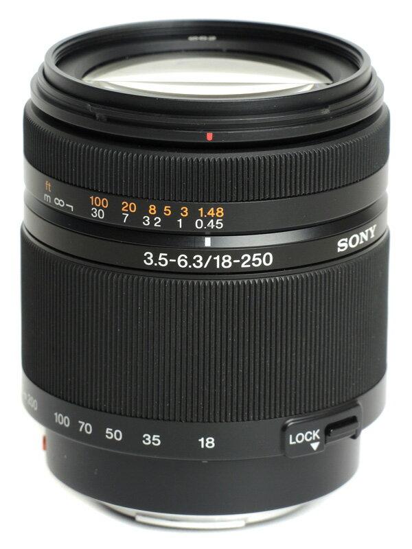 【SONY】ソニー『DT 18-250mm F3.5-6.3』SAL18250 Aマウント APS-C 27-375mm相当 デジタル一眼カメラ用レンズ 1週間保証【中古】