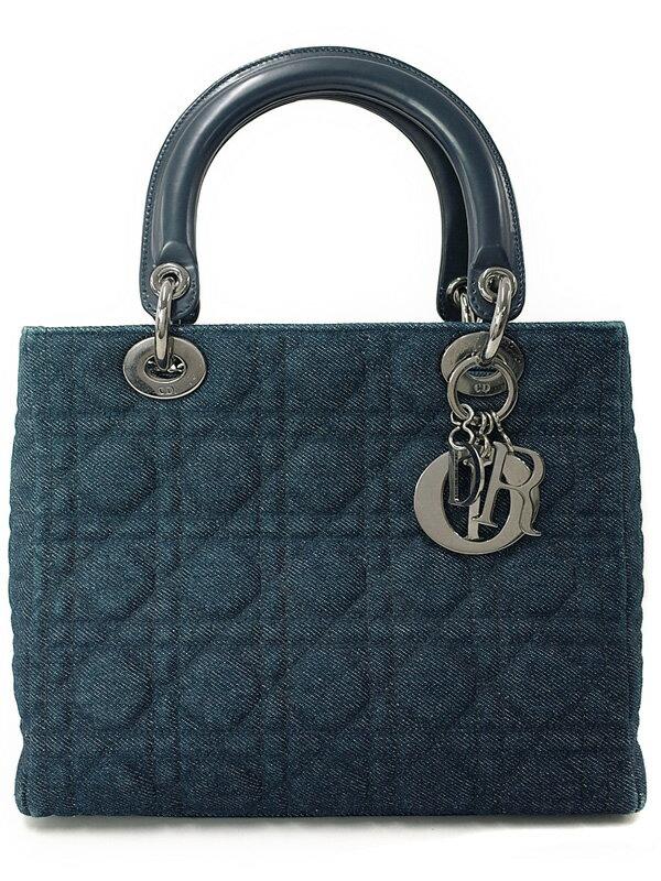 【Christian Dior】【カナージュ】クリスチャンディオール『レディディオール (M)』レディース ハンドバッグ 1週間保証【中古】