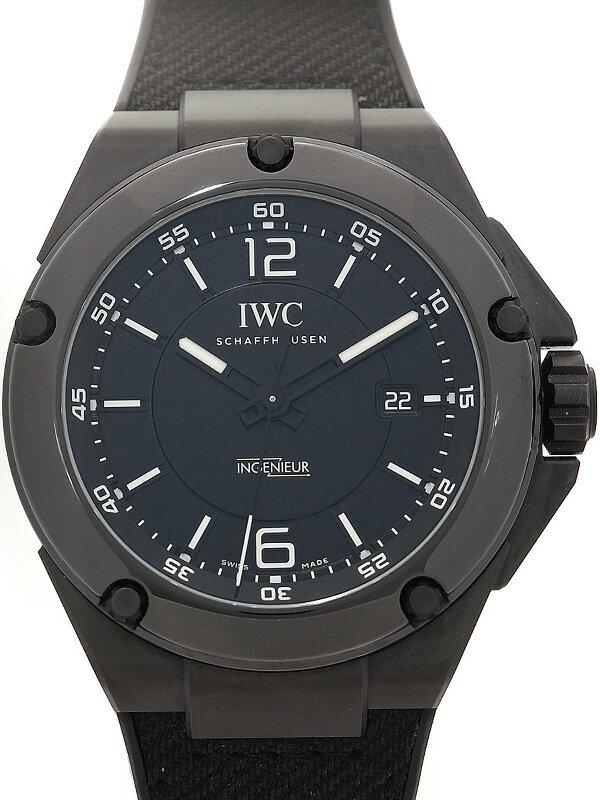 【IWC】【裏スケ】インターナショナルウォッチカンパニー『インヂュニア オートマティック AWG ブラックシリーズ』IW322503 メンズ 自動巻き 6ヶ月保証【中古】