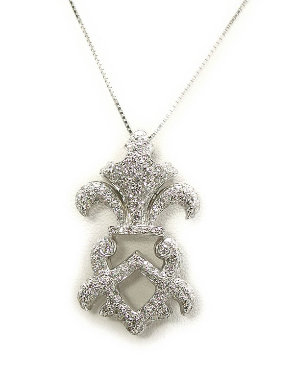 【2Way】【仕上済】セレクトジュエリー『K18WGネックレス ダイヤモンド1.173ct』1週間保証【中古】