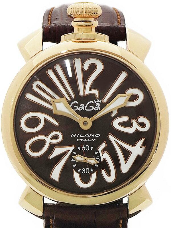 【GaGa MILANO】【裏スケ】ガガミラノ『マヌアーレ 48mm』5011.01S メンズ 手巻き 1ヶ月保証【中古】