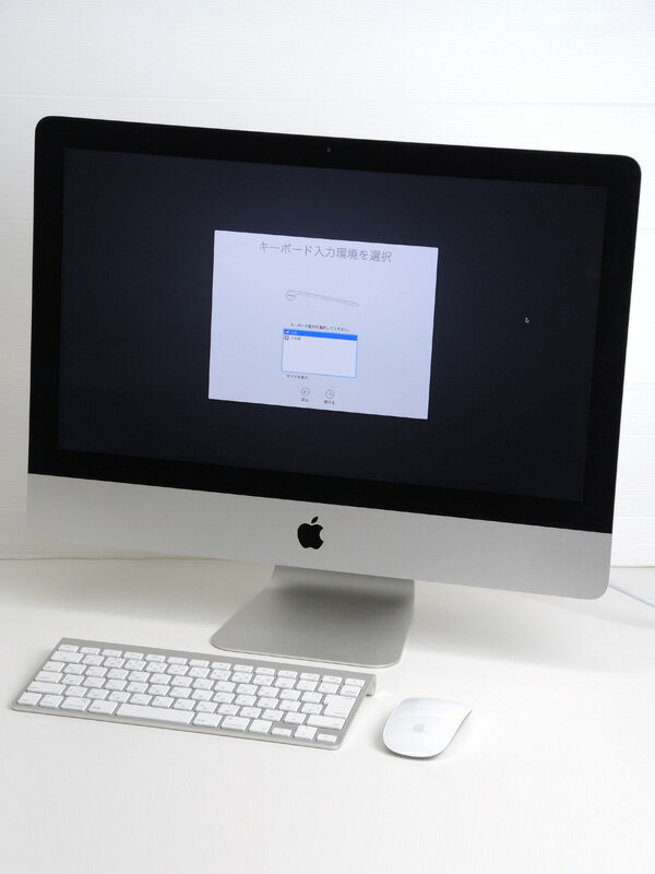 【Apple】アップル『iMac 1400/21.5』MF883J/A Mid 2014 500GB Yosemite デスクトップPC【中古】