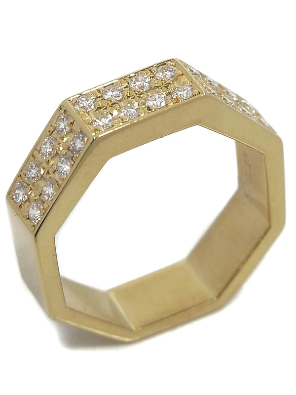 【TASAKI】【仕上済】タサキ『K18YGリング ダイヤモンド0.37ct』10号 1週間保証【中古】