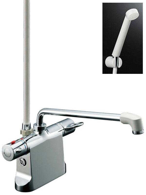【INAX】イナックス『サーモスタット付シャワーバス水栓デッキタイプ』BF-B646TSD(300)-A100 浴室用 エコフルスプレー【中古】
