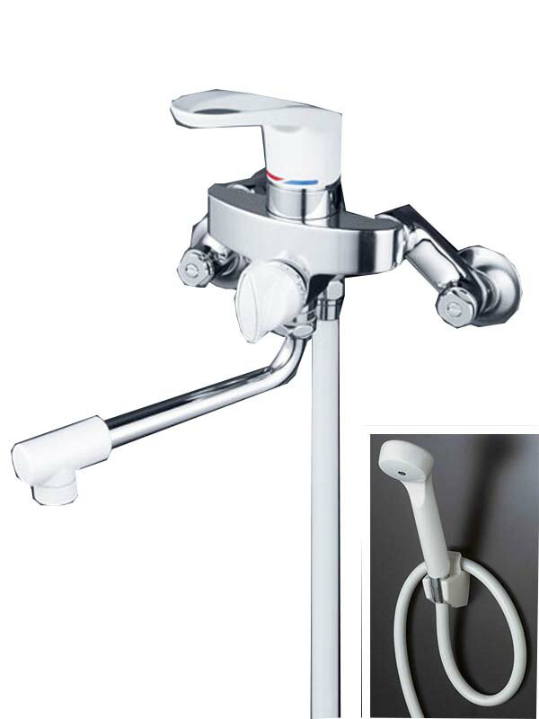 KVK『シングルレバー式シャワー』KF5000 壁付 リング形状ハンドル ホースフック 浴室用水栓【新品】