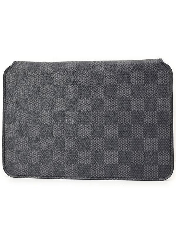 【LOUIS VUITTON】ルイヴィトン『ダミエ グラフィット IPAD MINI フォリオ』N48249 メンズ iPadケース 1週間保証【中古】