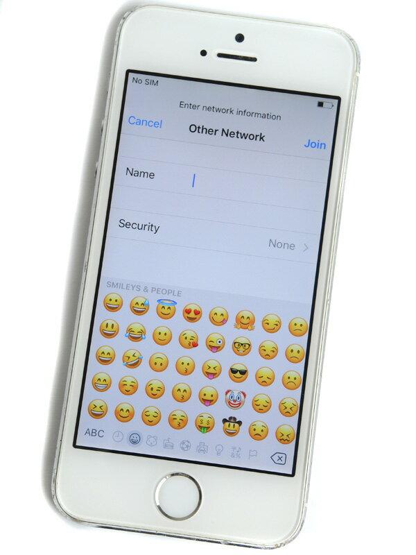 【Apple】アップル『iPhone 5s 32GB SoftBank』NE336J/A シルバー iOS10.2 4型 ○判定 白ロム スマートフォン【中古】