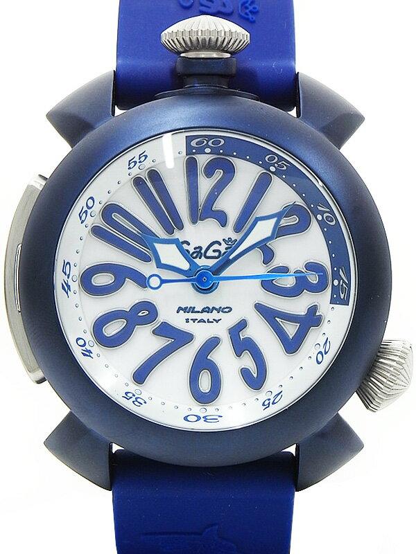 【GaGa MILANO】ガガミラノ『マヌアーレ ダイビング 48mm』5043 メンズ 自動巻き 1ヶ月保証【中古】