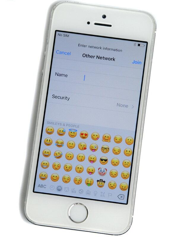 【Apple】アップル『iPhone 5s 32GB au』ME336J/A シルバー iOS10.2 4型 ○判定 白ロム スマートフォン【中古】