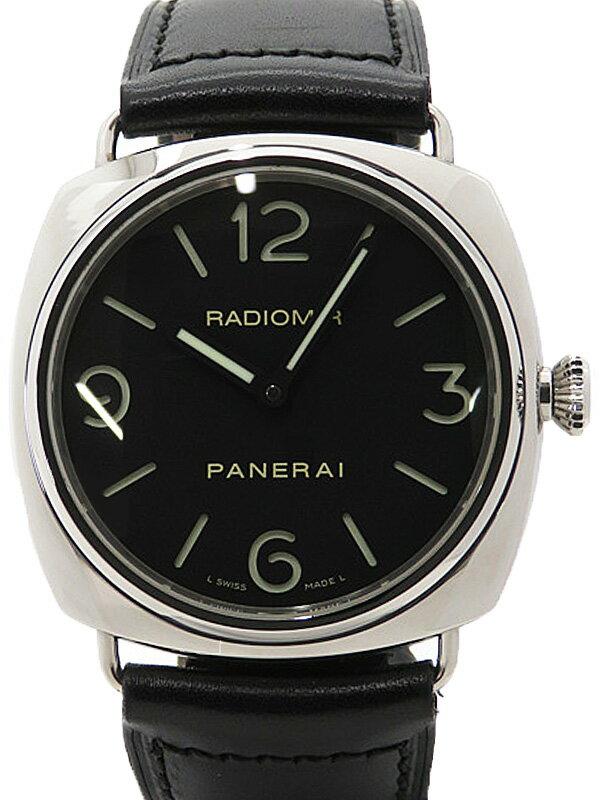 【PANERAI】【裏スケ】パネライ『ラジオミール ベース 45mm』PAM00210 H番'05年製 メンズ 手巻き 6ヶ月保証【中古】