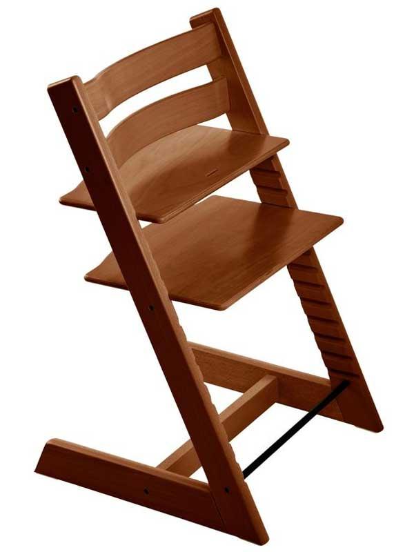 ストッケ『トリップ トラップ』ウォールナットブラウン ハイチェア 北欧デザイン 木製ベビーチェア 【新品】