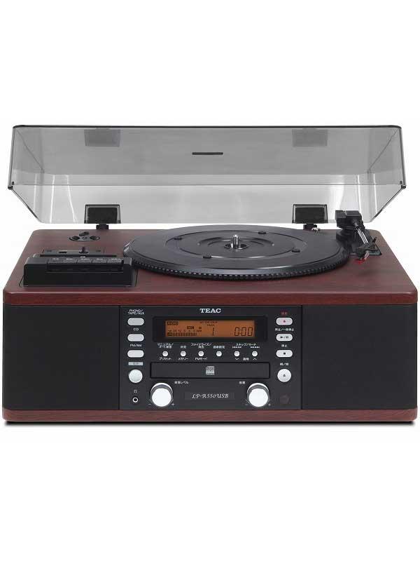 ティアック『ターンテーブル/カセットプレーヤー付CDレコーダー』LP-R550USB-WA ウォルナット CD-R/RW FM/AM レコード【中古】