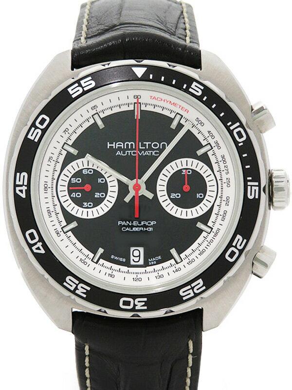 【HAMILTON】【裏スケ】ハミルトン『パンユーロ クロノグラフ』H35756735 メンズ 自動巻き 3ヶ月保証【中古】