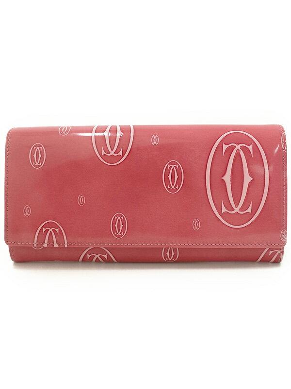 【Cartier】カルティエ『ハッピーバースデイ 二つ折り長財布』L3001282 レディース 1週間保証【中古】