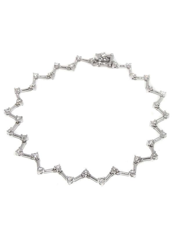セレクトジュエリー『K18WGブレスレット ダイヤモンド1.20ct』1週間保証【中古】