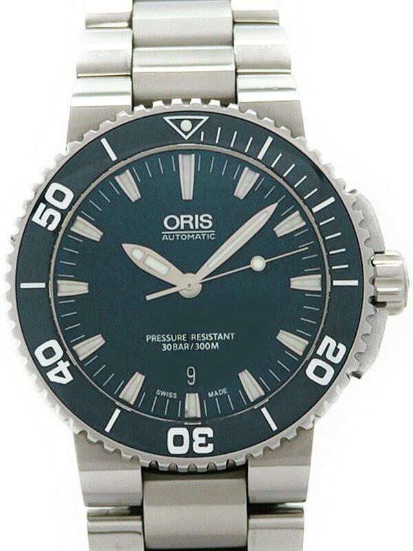 【ORIS】【裏スケ】オリス『アクイス デイト』733 7653 4155M メンズ 自動巻き 1ヶ月保証【中古】