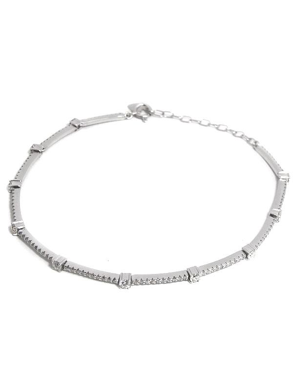 セレクトジュエリー『K18WGブレスレット ダイヤモンド1.25ct』1週間保証【中古】