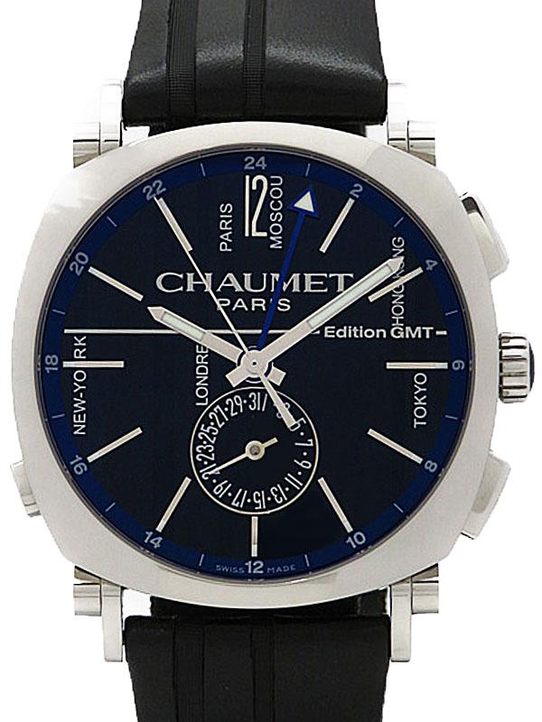【CHAUMET】ショーメ『ダンディ GMT』W11292-32A メンズ 自動巻き 3ヶ月保証【中古】