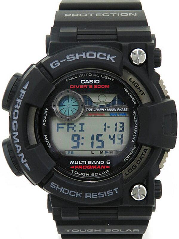 【CASIO】【G-SHOCK】【美品】【'16年購入】カシオ『Gショック フロッグマン』GWF-1000-1JF メンズ ソーラー電波クォーツ 1週間保証【中古】