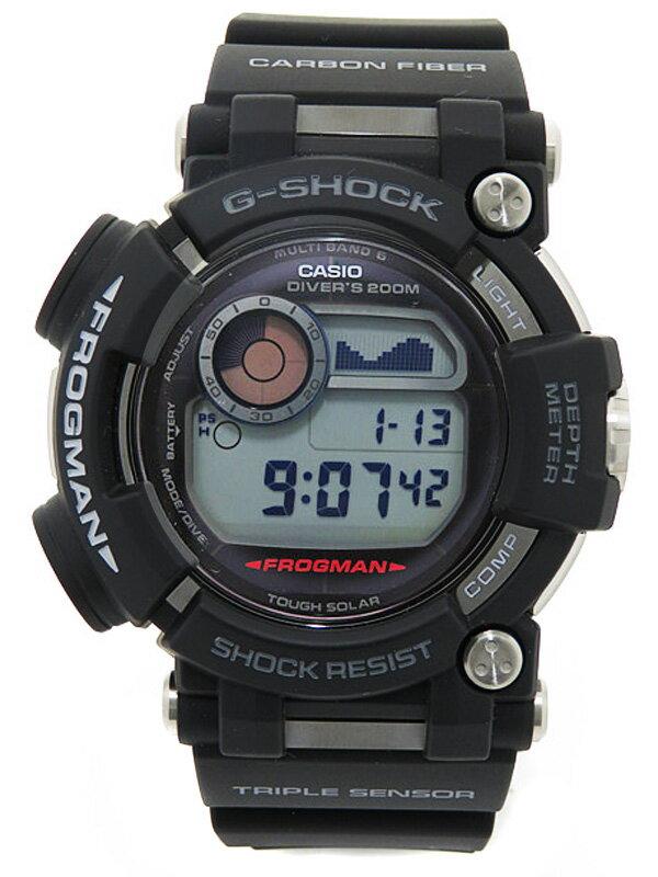 【CASIO】【G-SHOCK】【'16年購入】【美品】カシオ『Gショック フロッグマン』GWF-D1000-1JF メンズ ソーラー電波クォーツ 1ヶ月保証【中古】