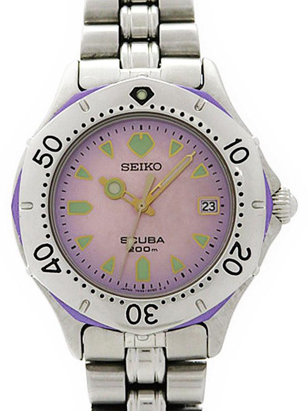 【SEIKO】セイコー『スキューバ 200M』7N35-6070 レディース クォーツ 1週間保証【中古】