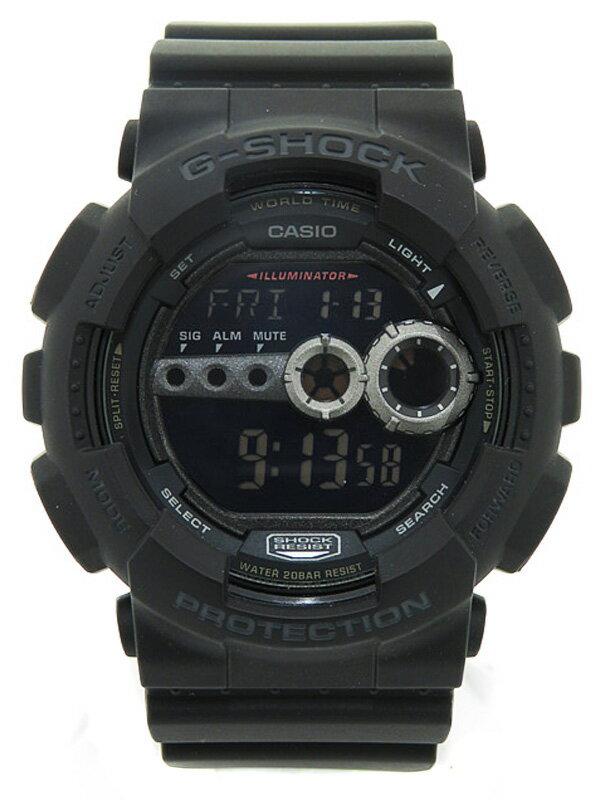 【CASIO】【G-SHOCK】【美品】カシオ『Gショック』GD-100-1BJF メンズ クォーツ 1週間保証【中古】