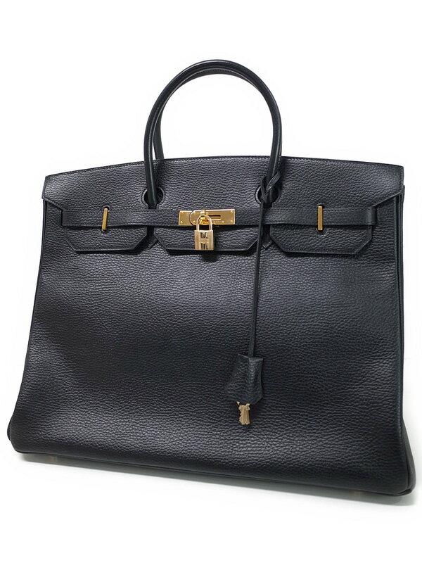 【HERMES】【ゴールド金具】エルメス『バーキン40』F刻印 2002年製 レディース ハンドバッグ 1週間保証【中古】