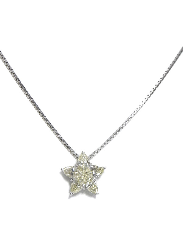 セレクトジュエリー『PT900/PT850ネックレス ダイヤモンド1.24ct スターモチーフ』1週間保証【中古】