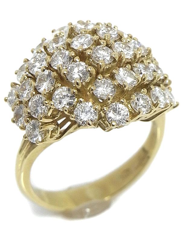 【WALTHAM】ウォルサム『K18YGリング ダイヤモンド』10.5号 1週間保証【中古】