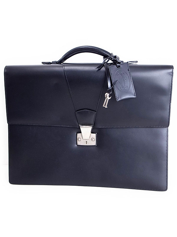 【Cartier】カルティエ『トラディション ブリーフケース』メンズ ビジネスバッグ 1週間保証【中古】