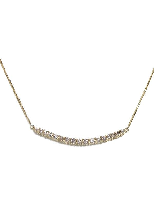 セレクトジュエリー『K18YGネックレス  ダイヤモンド0.53ct』1週間保証【中古】