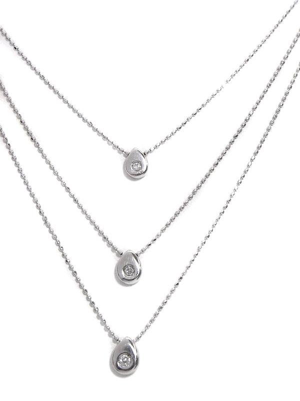 【3連】セレクトジュエリー『PT900/PT850ネックレス ダイヤモンド0.07ct』1週間保証【中古】