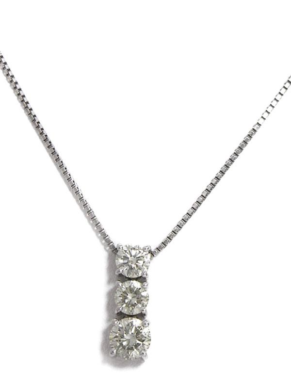 セレクトジュエリー『PT900/PT850ネックレス ダイヤモンド1.023ct』1週間保証【中古】