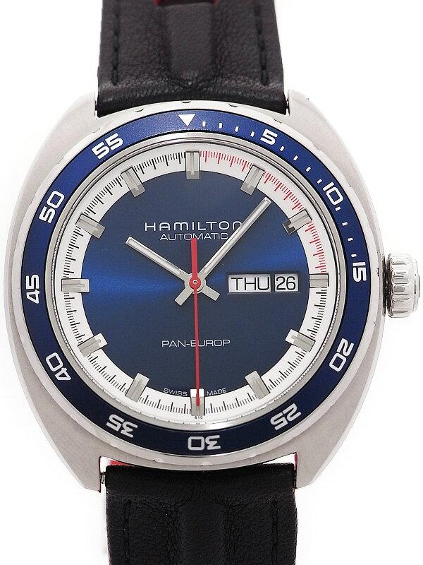 【HAMILTON】【裏スケ】ハミルトン『パンユーロ』H35405941 メンズ 自動巻き 1ヶ月保証【中古】