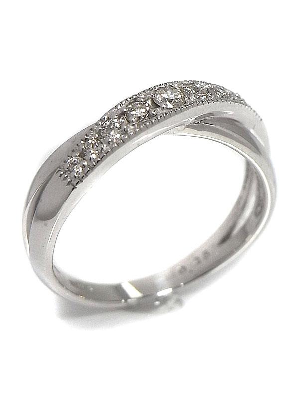 【仕上済】セレクトジュエリー『K18WGリング ダイヤモンド0.25ct』13号 1週間保証【中古】