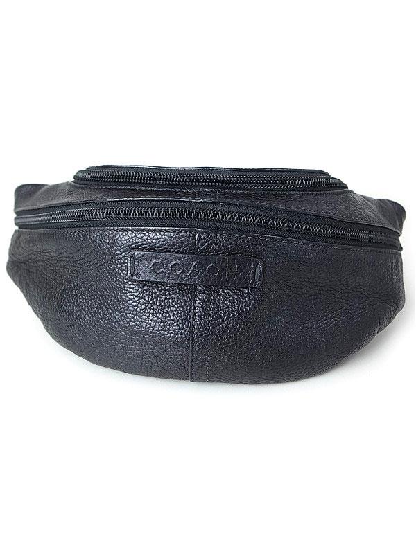 【COACH】コーチ『レザー ウエストバッグ』F77233 メンズ ボディバッグ 1週間保証【中古】