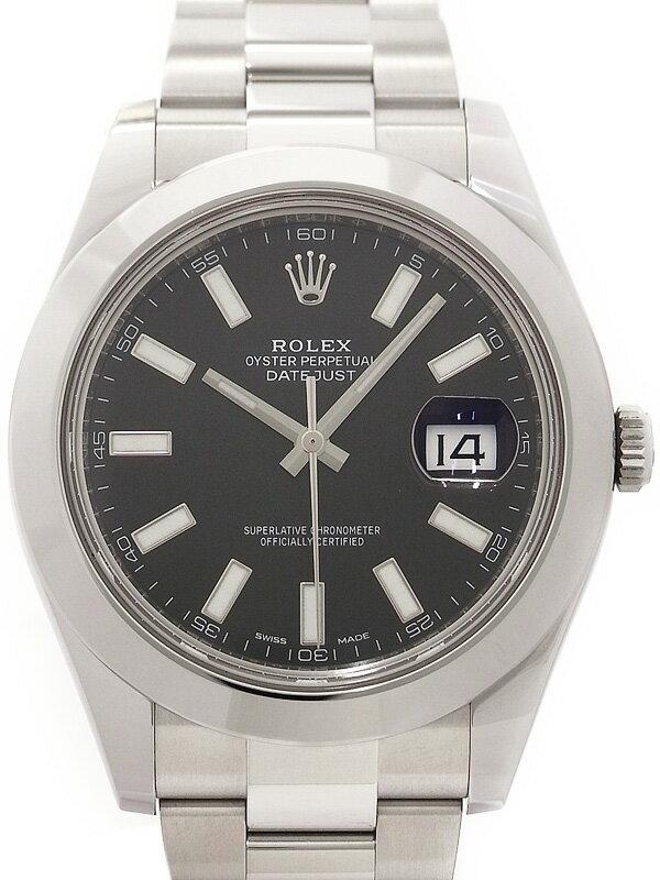 【ROLEX】【'16年購入】ロレックス『デイトジャスト2』116300 ランダム番 メンズ 自動巻き 12ヶ月保証【中古】