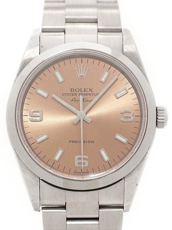【ROLEX】【ピンク3・6・9】ロレックス『エアキング』14000 A番'99年頃製 メンズ 自動巻き 12ヶ月保証【中古】