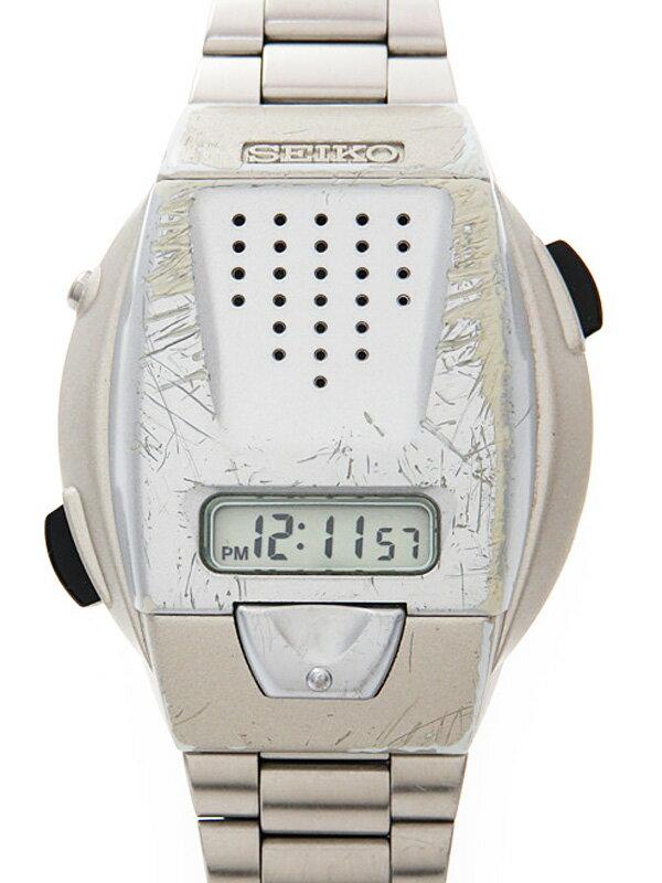 【SEIKO】セイコー『音声デジタルウォッチ』SBJS001 メンズ クォーツ 1週間保証【中古】