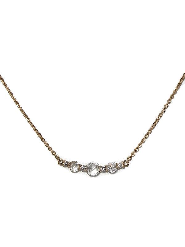 セレクトジュエリー『K18PGネックレス ダイヤモンド0.25ct』1週間保証【中古】