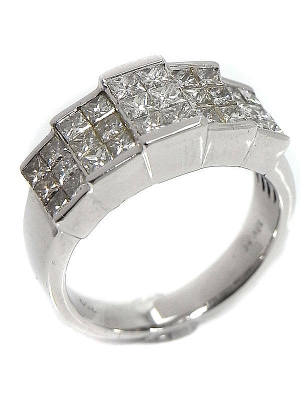 【仕上済】セレクトジュエリー『K18WGリング ダイヤモンド1.50ct』10.5号 1週間保証【中古】