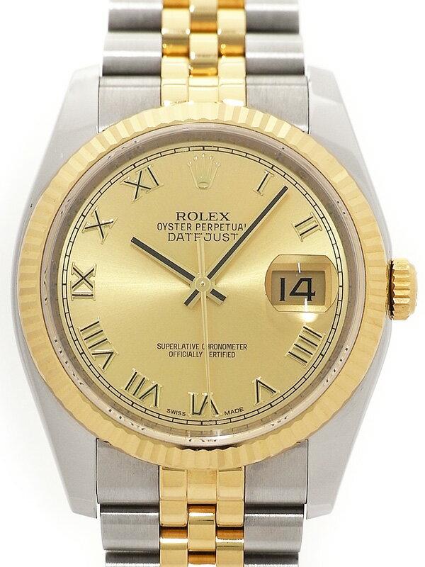 【ROLEX】【'16年購入】ロレックス『デイトジャスト』116233 ランダム番 メンズ 自動巻き 12ヶ月保証【中古】