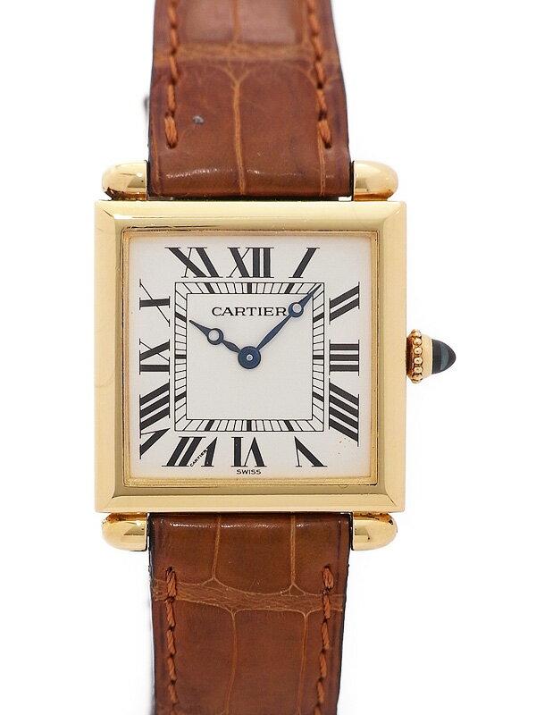 【Cartier】【YGケース】【電池交換済】カルティエ『タンク オビュ』W1512256 レディース クォーツ 3ヶ月保証【中古】