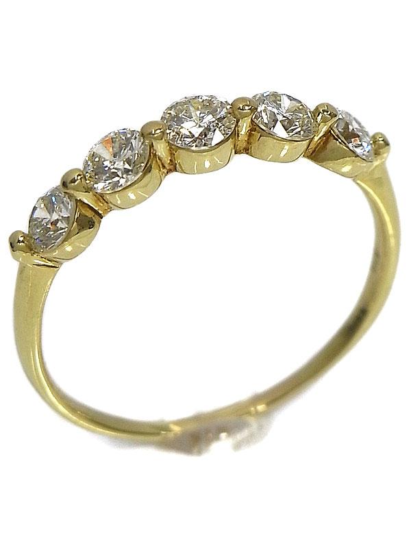 【仕上済】セレクトジュエリー『K18YGリング ダイヤモンド1.00ct』19号 1週間保証【中古】