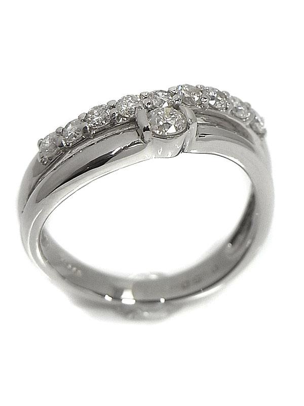 【仕上済】セレクトジュエリー『PT900リング ダイヤモンド0.50ct』10.5号 1週間保証【中古】